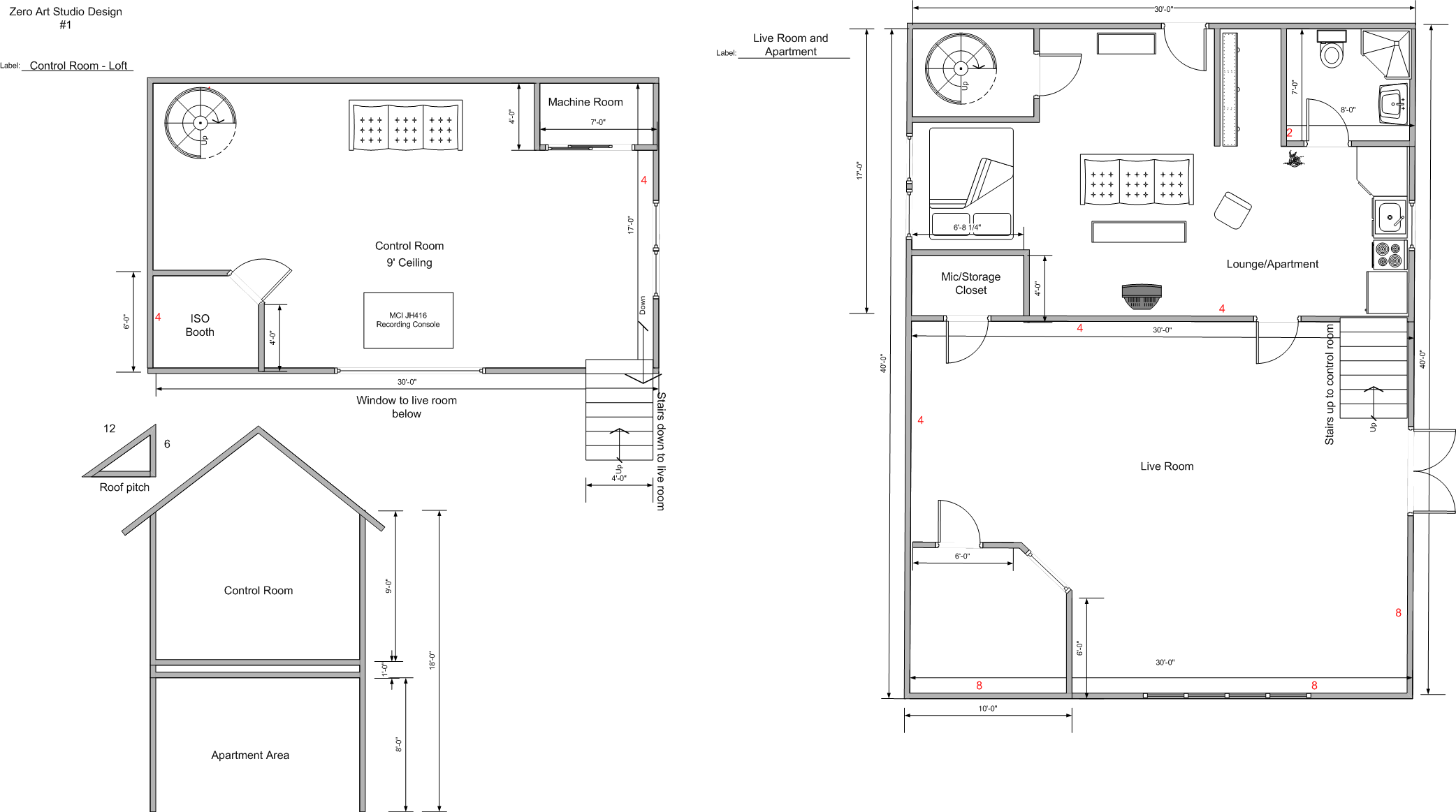 zero art studio final floor plan tate eskew. Black Bedroom Furniture Sets. Home Design Ideas